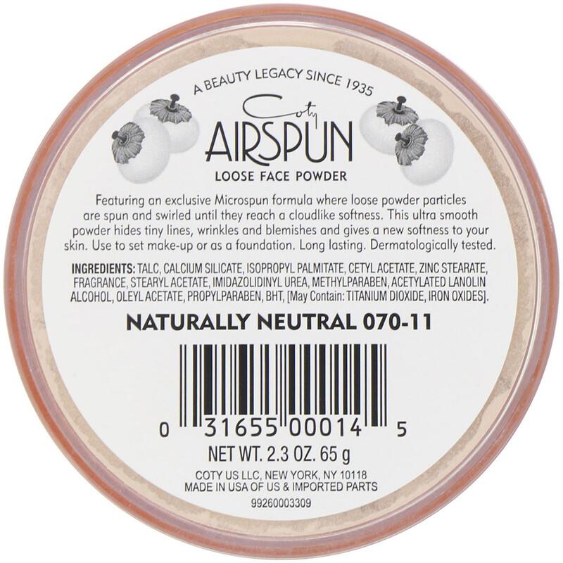 مسحوق سائب للوجه، بلون Naturally Neutral 070-11، 2.3 أوقية (65 جم) Airspun من متجر روزا في فلسطين